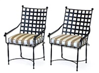 garden armchairs (set of 3) by thomas bartlett