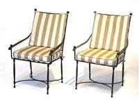 garden armchairs (set of 4) by thomas bartlett