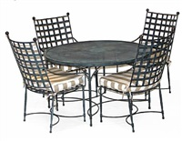 a dining table and chairs (set of 5) by thomas bartlett