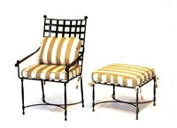 an armchair and ottoman (set of 2) by thomas bartlett