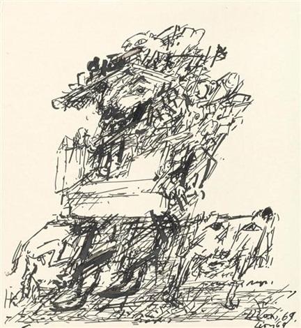 abstrakte komposition by dmitry borisovitch lion