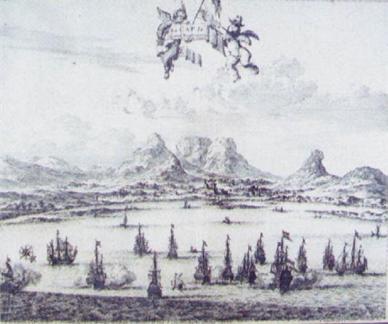 cap der guten hoffnung armada by pieter boudewyn van der aa