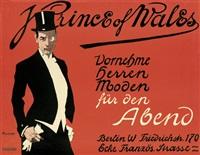 prince of wales. vornehme herren moden by friedrich carl georg (fritz) rumpf