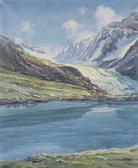guggisee mit langgletscher by august weber