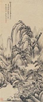 松涧泉流图 by zhang zongcang
