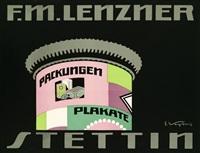 packungen. plakate. f. m. lenzner stettin by curt vogt