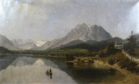bergsee mit staffage by robert assmus