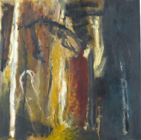 komposition in weiss gelb rot und schwarz by uwe wittwer