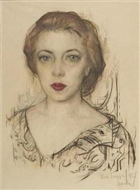 frauenporträt by ilya sergejevitch glasunov