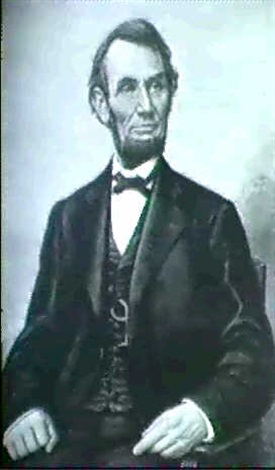 lincoln seated by franklin c courter