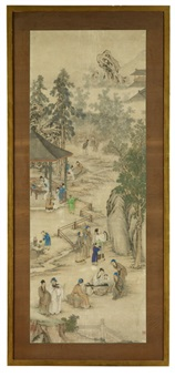 gelehrte und schüler in der landschaft by chinese school (17)