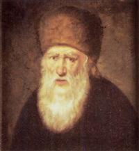 porträt, jude mit nerzmütze by a. priechenfried