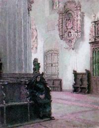 marienkirche, interieur by ernst wilhelm müller-schönefeld