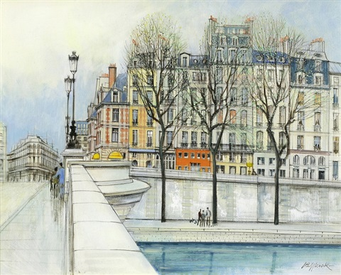 ile de la cite sold with 398b set of 2 by h rolf rafflewski