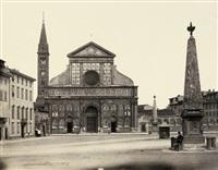 piazza santa maria novella, florence by leopoldo alinari