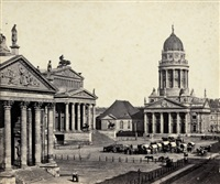gendarmenmarkt with farmer's market, berlin by leopold ahrendts
