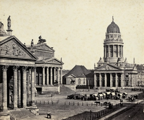 gendarmenmarkt with farmers market berlin by leopold ahrendts