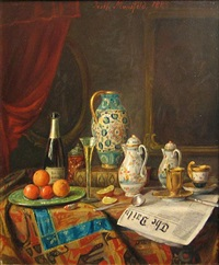 still life with the daily by josef mansfeld