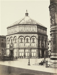 the baptistery, florence by leopoldo alinari