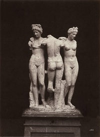 roman statue - the three graces by leopoldo alinari