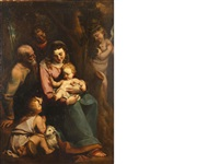 the holy family with the young saint john the baptist by luca cambiaso