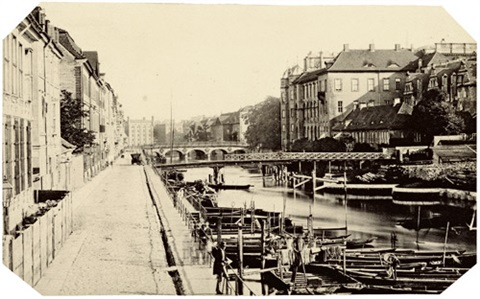 burgstraße with lange brücke and kavaliersbrücke, view towards the royal castle by leopold ahrendts