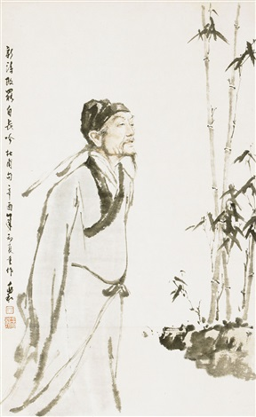 the poet du fu reciting a poem by jiang zhaohe