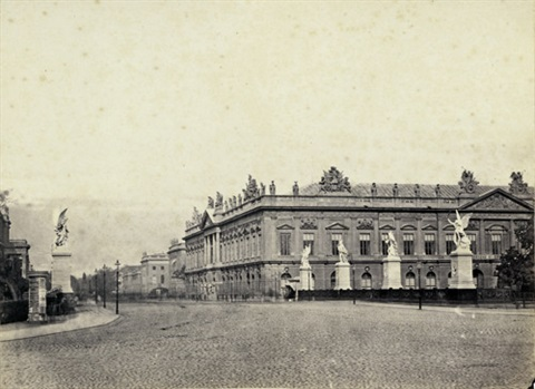 view of the zeughaus seen from the berliner schloß 2 others 3 works by leopold ahrendts