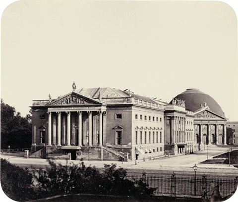 opera house and st hedwigs church berlin by leopold ahrendts