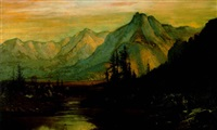 a mountain valley under the rising sun by henry arthur elkins