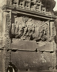 the arch of titus, rome by james anderson