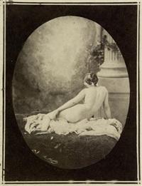 reclining female nude by marie-alexandre (menut) alophe