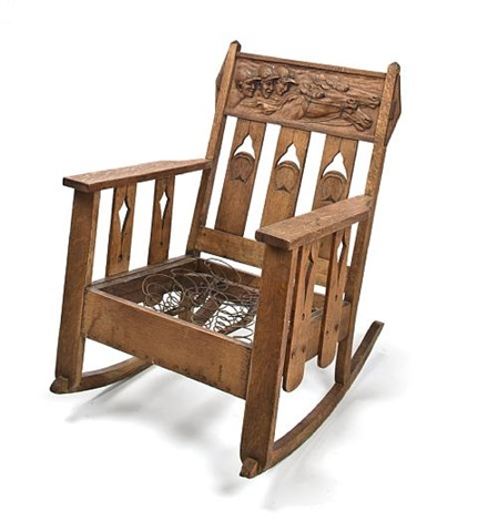 jockeys and steeds rocking chair by arts crafts