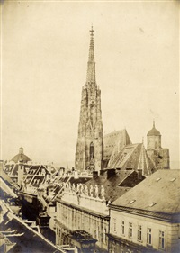 st. stephans tower, vienna by alois auer