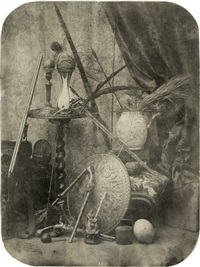 still life with weapons by adolphe bilordeaux