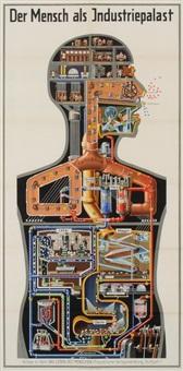 der mensch als industriepalast (+ stammbaum des menschen; 2 works) by fritz kahn