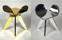 joly coeur stool (两件) (2 works) by claudio colucci