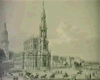 ansicht der katholischen kirche zu dresden. by ernst arnold