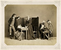 tableau vivant - marie antoinette in prison by ludwig angerer