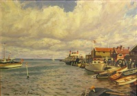 the quay, yarmouth, isle of wight by deryck foster