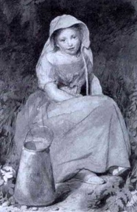 little girl with a churn by edward thompson davis