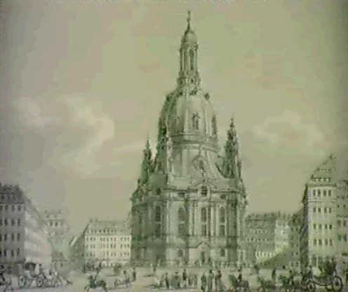ansicht des neumarkts zu dresden mit der frauenkirche by ernst arnold