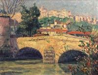 monte carlo; bridge at cagnes (pair) by caroline helena armington