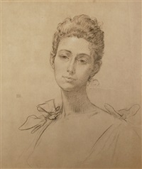 portrait seiner frau by edouard-marie-guillaume dubufe