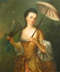 a lady with a parasol by jean-baptiste santerre