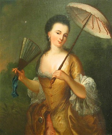 a lady with a parasol by jean baptiste santerre