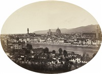 panoramic view of florence by leopoldo alinari