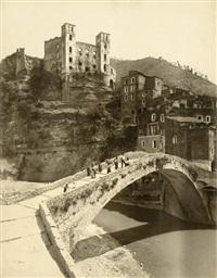 dolceacqua - ponte e castello dei doria, italy by vittorio alinari