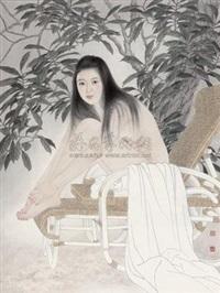 叶下少女 (girl) by song yanjun