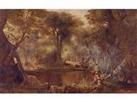 cattle in a stream by edwin deakin